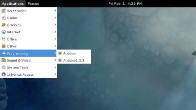 Arduino IDE 1.0.3 Fedora