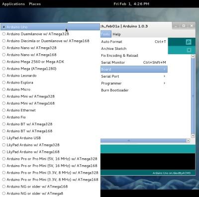 IDE Arduino sulla Fedora