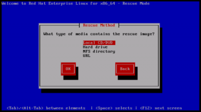 Linux RedHat 6 rescue mode