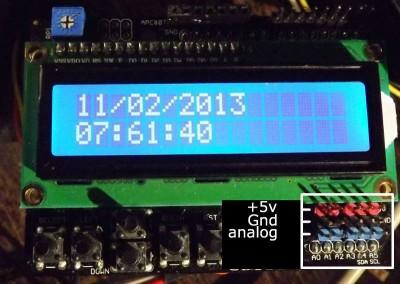 keypad LCD pin analogici
