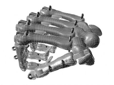 mano biomeccanica - pugno