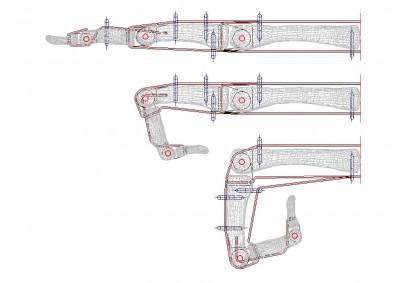 mano biomeccanica - progetto meccanico