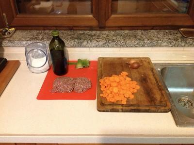 Ragu bolognese carote a rondelle