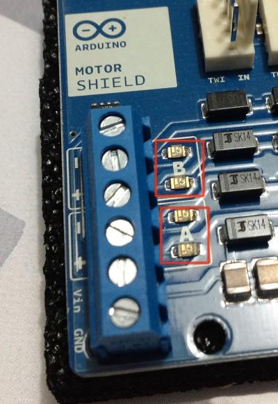 Motor Shield Arduino Led