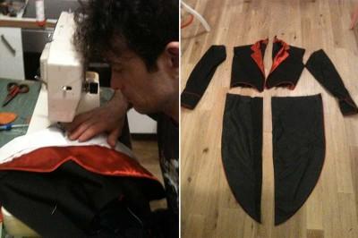 giacca animata cuciture