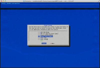 openwrt custom firmware select target