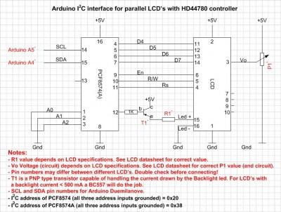 PCF8574 LCD
