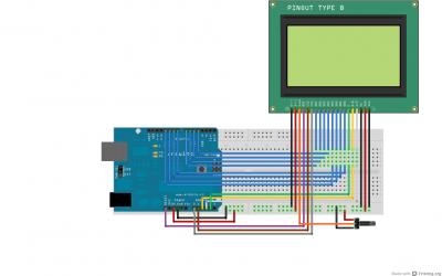 LCD grafico 128x64 arduino collegamenti