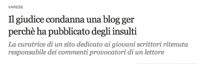 condannata blogger