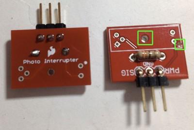 breakout per GP1A57HRJ00F montaggio pin