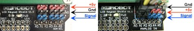 keypad lcd versione 1.0 vs 1.1