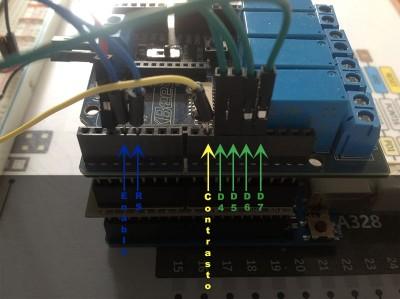 centralina irrigazione Arduino connessioni