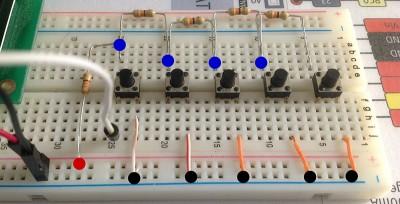 centralina irrigazione Arduino pulsanti collegati