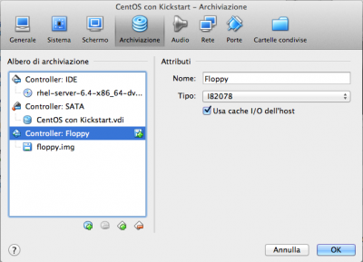 Kickstart Linux Vbox Dvd e floppy