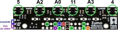 zumo reflectance sensor jumper