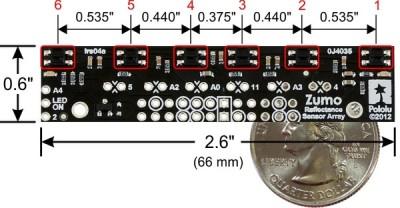 zumo reflectance sensor ir