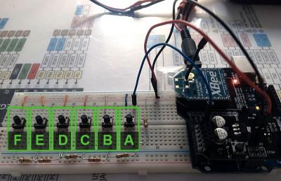xbee arduino-arduino collegamento pulsanti