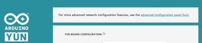 Arduino Yun configurazione avanzata