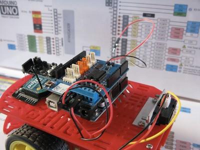 Robot Beginner Radio cavi motore step3