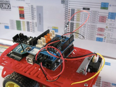 Robot Beginner Radio collegamento sensore step4