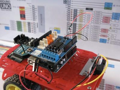 Robot Beginner Radio motor shield step2