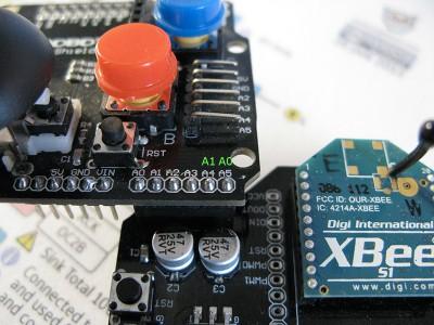 Robot Beginner Radio particolare dei pin A0 e A1