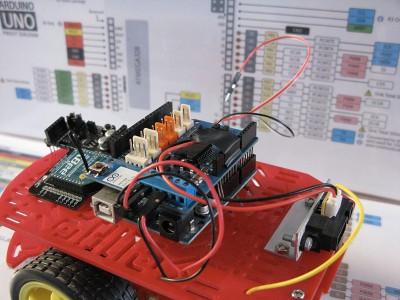 Robot Beginner Radio protezione sensore step5