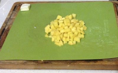 Vellutata di zucca patate a cubetti