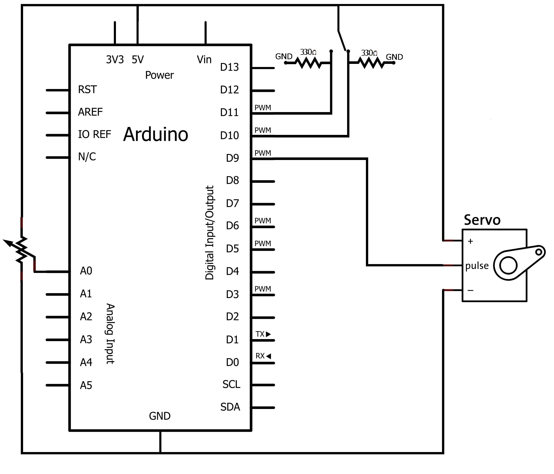 Schema Elettrico Potenziometro : Gestione servo potenziometro e switch di gabriele mauro