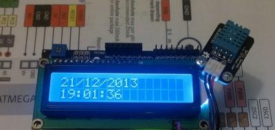 Datalogger Arduino LCD DHT11 data ora