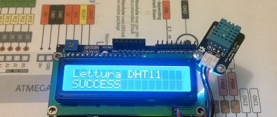Datalogger Arduino LCD DHT11 lettura success