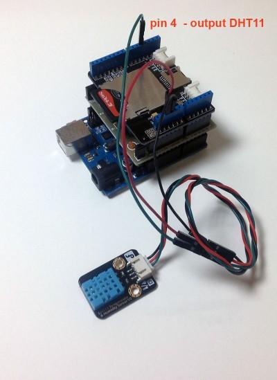 Datalogger Arduino temperatura humidity collegamenti