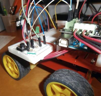 Robot 4WD connessioni breadboard