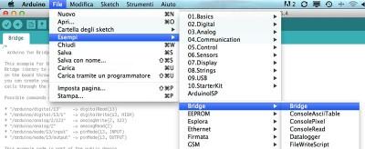 arduino yun select example