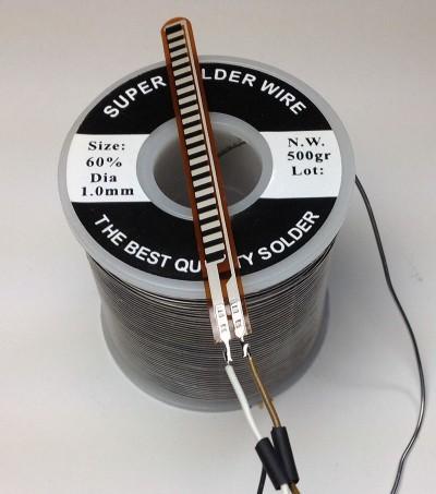 sensore di flessione fili saldati