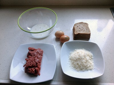 Sartu di riso ingredienti polpettine