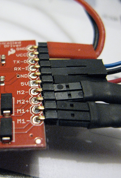 serial controller motor driver connessioni