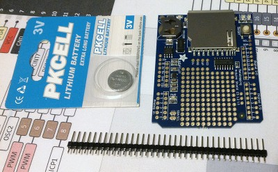 datalogging adafruit no header