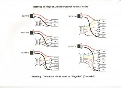 LiPo 3S  schema batterie