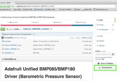 BMP085 barometric sensor