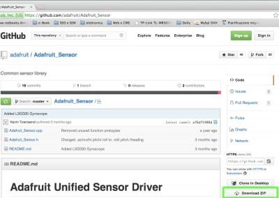 BMP085 barometric sensor library