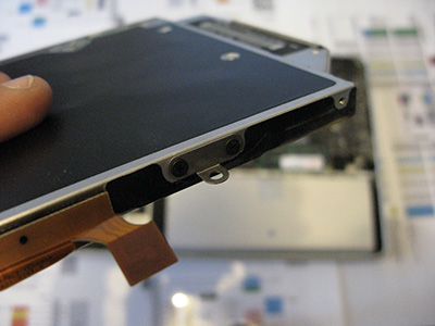 Sostituire Superdrive HDD rimuovi sostegno