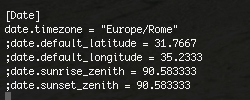 arduno yun php timezone php ini config