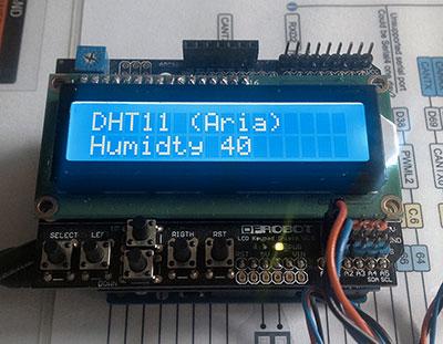 Centralina humidity temperatura suolo umidita aria dht11