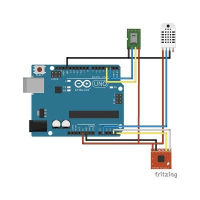 collegamento sensori centralina