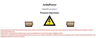 ardupower avvertenze