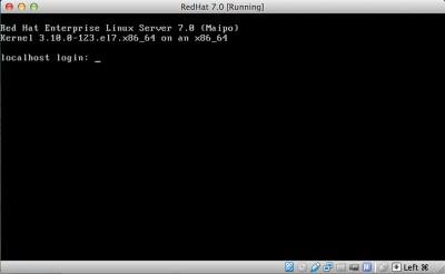 RedHat Enterprise Linux 7 al login