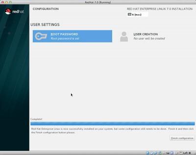 RedHat Enterprise Linux 7 fine configurazione