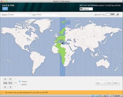 RedHat Enterprise Linux 7 seleziona il fuso orario Roma
