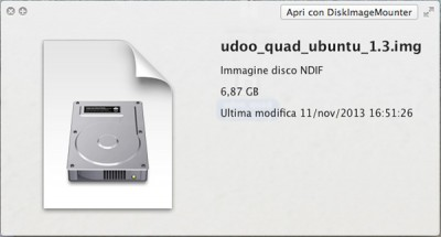 UDOO Quad dimension file